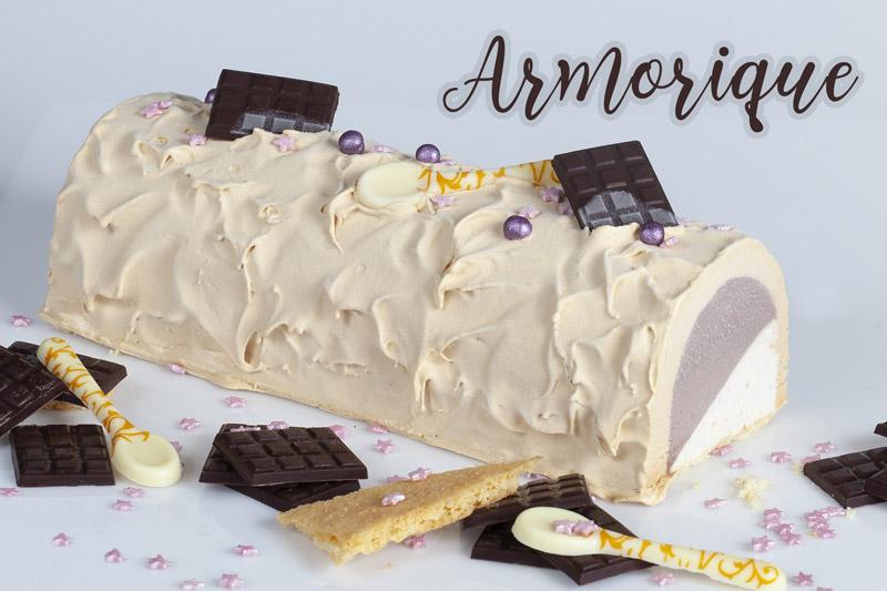 Crème glacée Caramel au Beurre Salé Crème glacée Chocolat Noir Crème glacée Sablé Breton